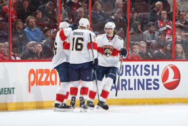 More celebrations like this with Barkov and Jagr are ncecessary if Florida wants to retain their Atlantic Division title.