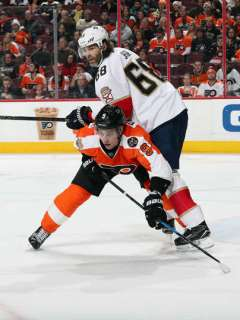 Ivan Provorov kept Jaromir Jagr away from prime scoring opportunities for most of Philadelphia's 203 OT win over the Florida Panthers